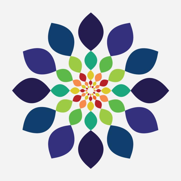 harmonic-flower-design-digital-red-orange-yellow-green-blue-indigo-violet-by-wendy corbett